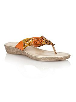 Lotus Scorch toe post sandals