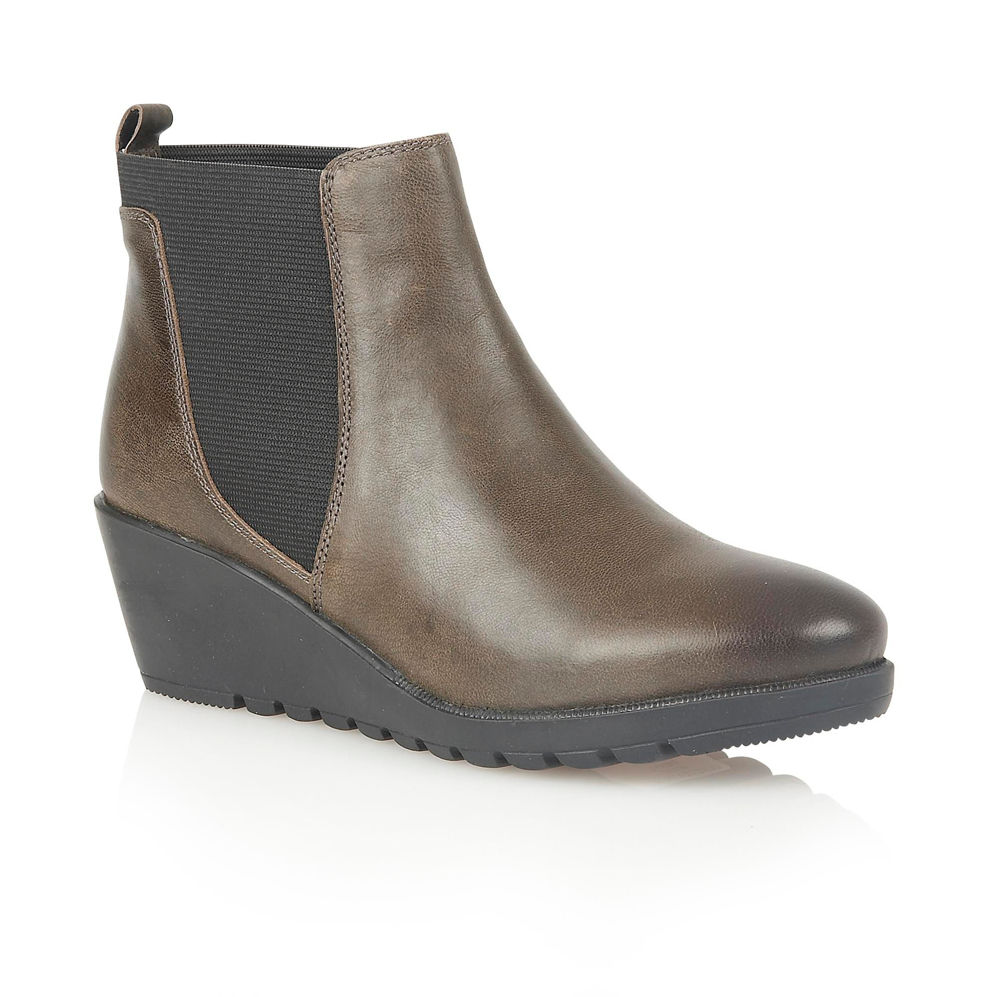 ankle high leather wedge boots house of fraser