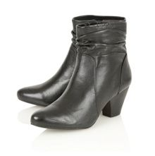 Larch ankle boots