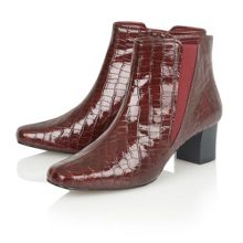 Damask ankle boots