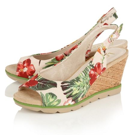 Lotus Nora peep toe wedge sandals