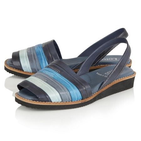 Lotus Aaliyah peep toe sling back sandals