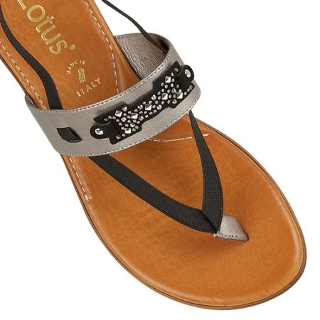 Lotus Indigo toe post sandals