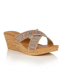 Arika wedge mules