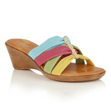 Lotus Martha wedge mules