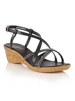 Merida strappy wedge sandals
