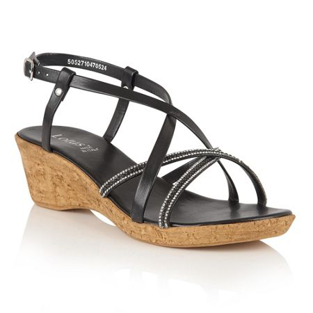 Lotus Merida strappy wedge sandals