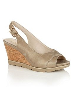 Elaine open toe wedge sandals