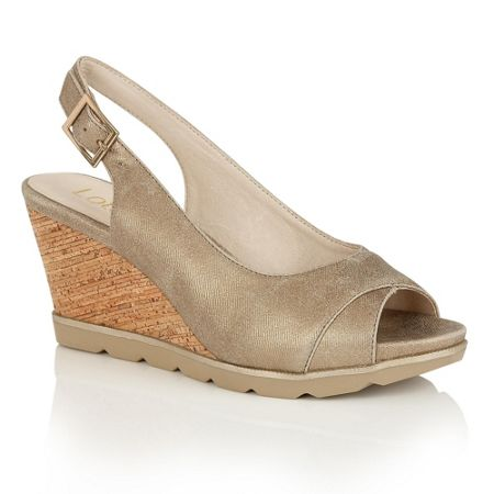Lotus Elaine open toe wedge sandals