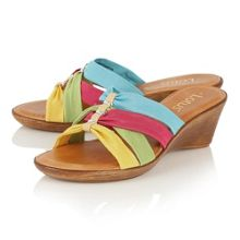 Lotus Martha ii wedge mules
