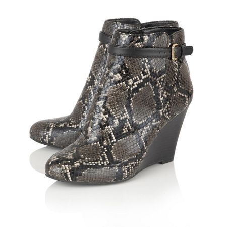 Lotus Aiken animal print shoe boots