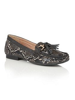 Chalina animal print loafers