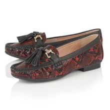 Lotus Chalina animal print loafers