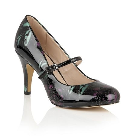 Lotus Celadine shiny mary jane courts