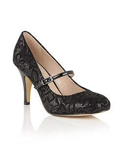 Fuzina floral mary jane courts