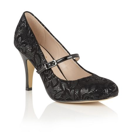 Lotus Fuzina floral print mary jane courts