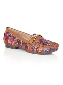 Albena floral print loafers