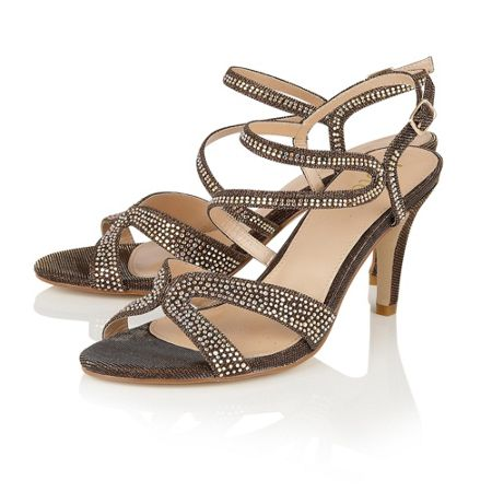 Lotus Hibiscus diamante open toe sandals