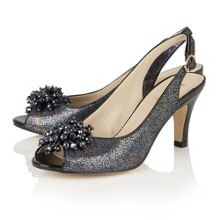 Lotus Clematis peep toe sling back courts