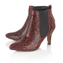 Lotus Chika animal print ankle boots