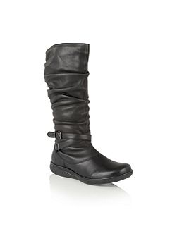 Kalina leather knee high boots