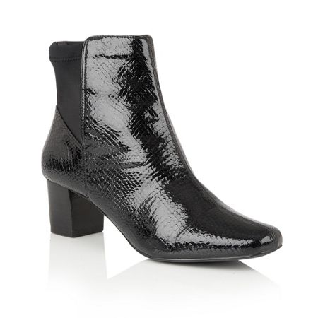 Lotus Swallow animal print ankle boots