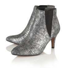 Lotus Lore animal print ankle boots