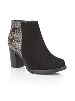 Gemini animal print ankle boots