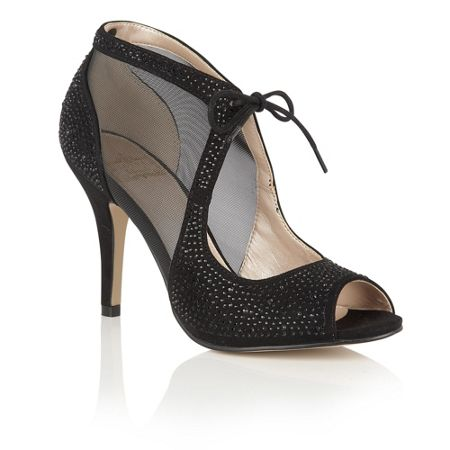 Lotus Vanille diamante court shoes