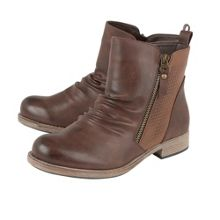Lotus Fir zip up ankle boots