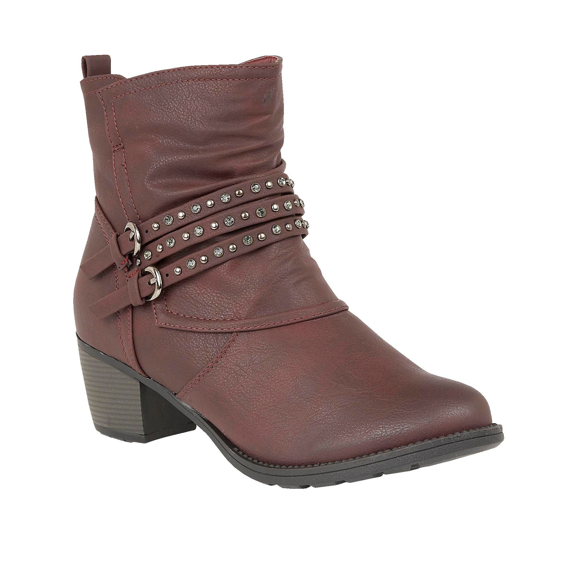 Lotus Forset animal print ankle boots Bordeaux