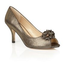 Lotus Quill peep toe courts