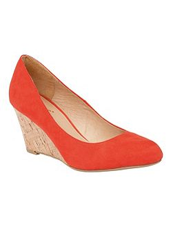 Jelico shiny cork wedges