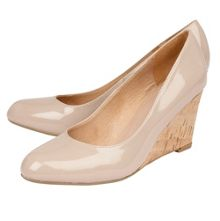 Lotus Jelico shiny cork wedges