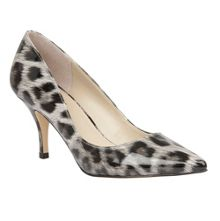 Lotus Eugenio leopard shiny heels