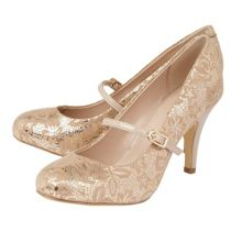 Lotus Fuzina floral mary jane courts