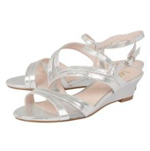 Lotus Desponia shimmer wedge sandals
