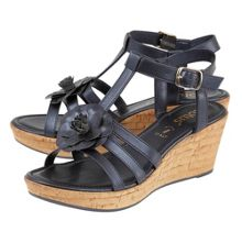 Lotus Ottila t-bar cork platform wedge sandals