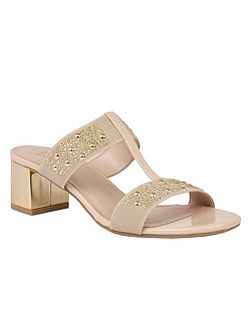 Rosana shiny elastic sandals