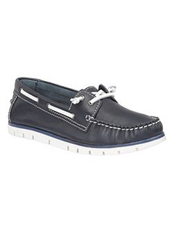 Silverio leather boat shoes