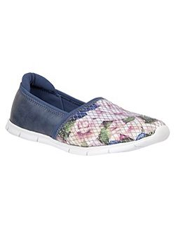 Valli floral print loafers