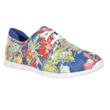 Lotus Meadow floral print lace up trainers
