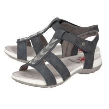 Lotus Relife Addilyn diamante rip tape sandals