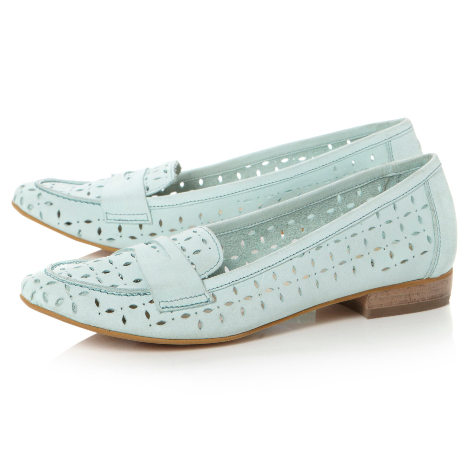 Lollipop laser cut loafer shoes