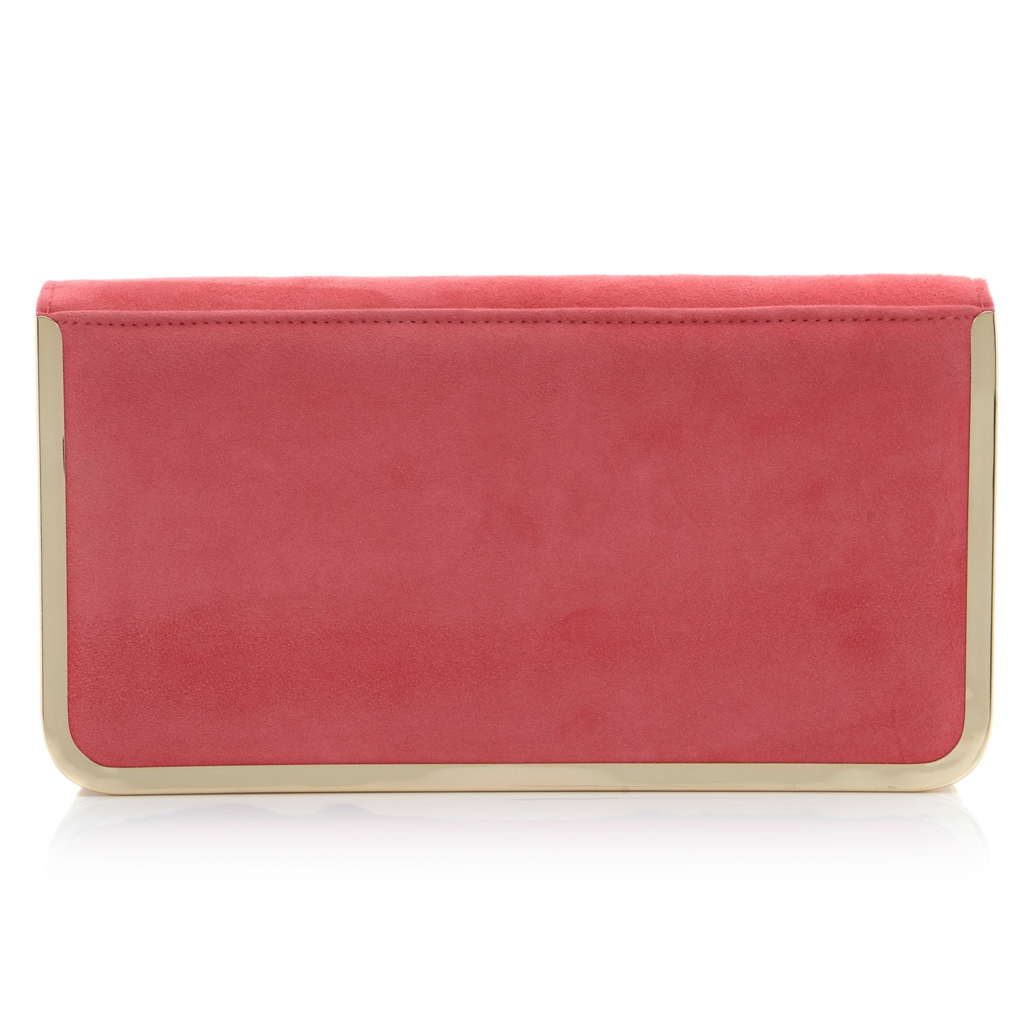 Bavy foldover metal detail clutch bag