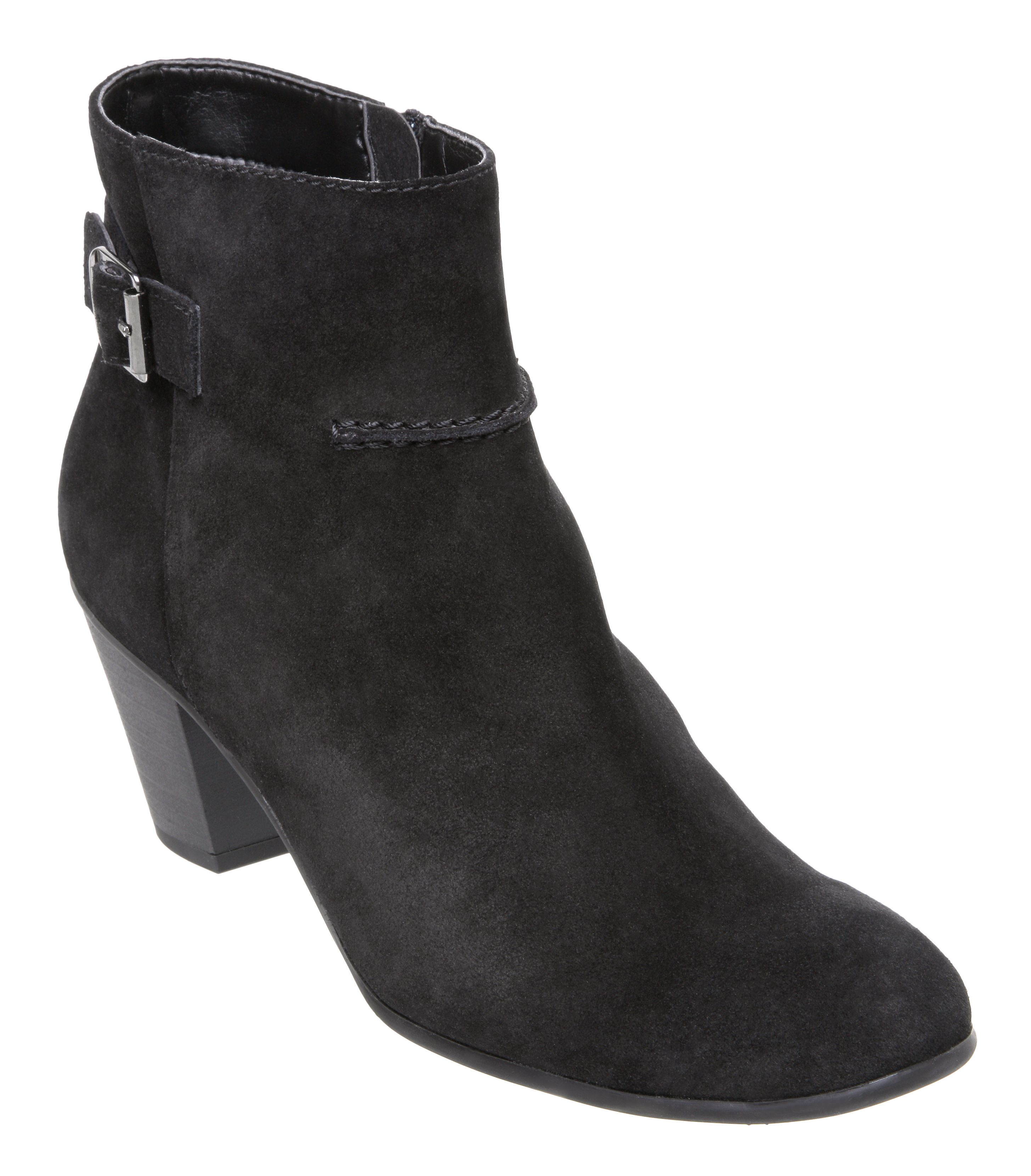 Spain e mid heel buckle detail boots