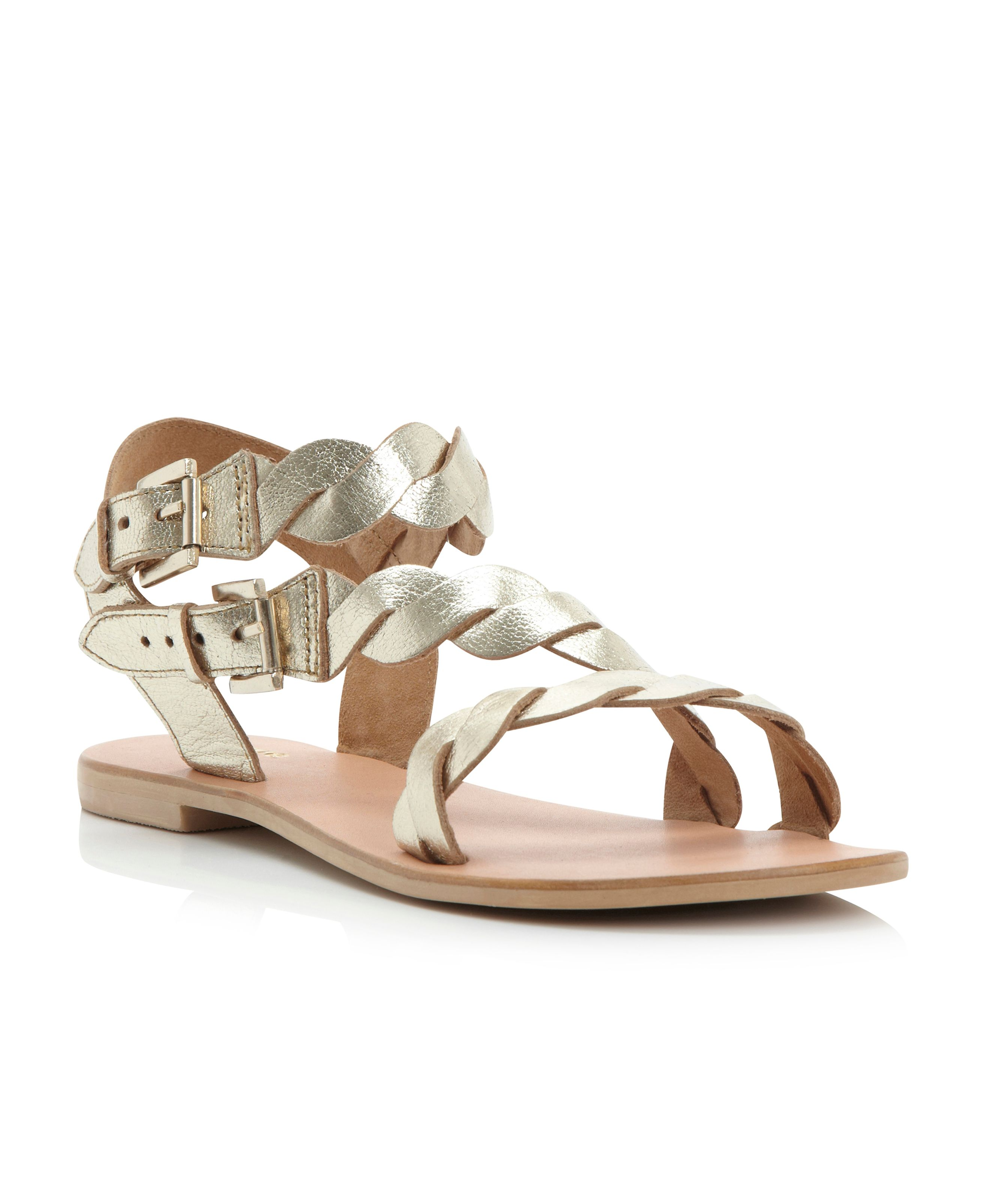 Jumpy twist strap sandals