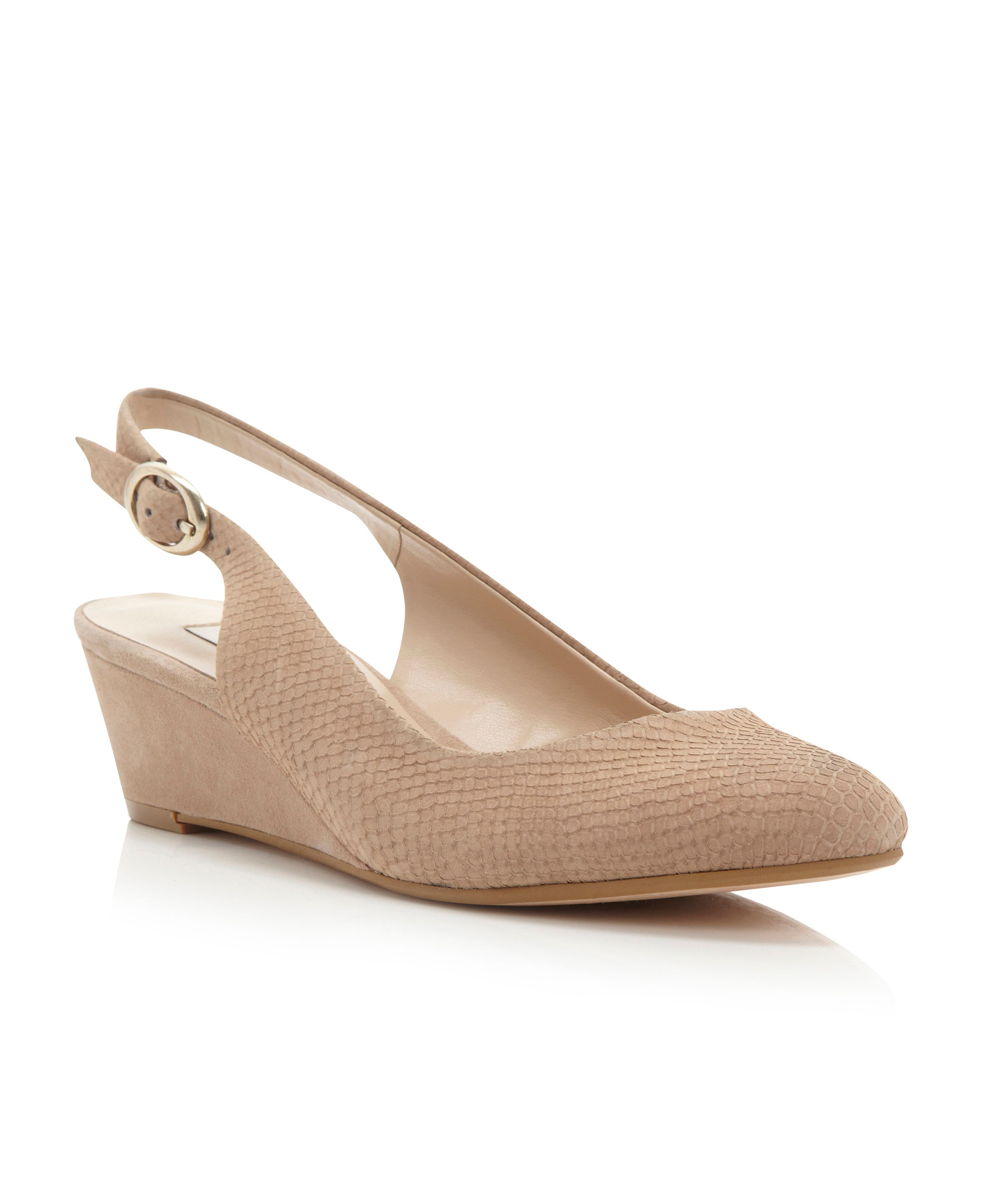 Consort sling back wedge court shoes