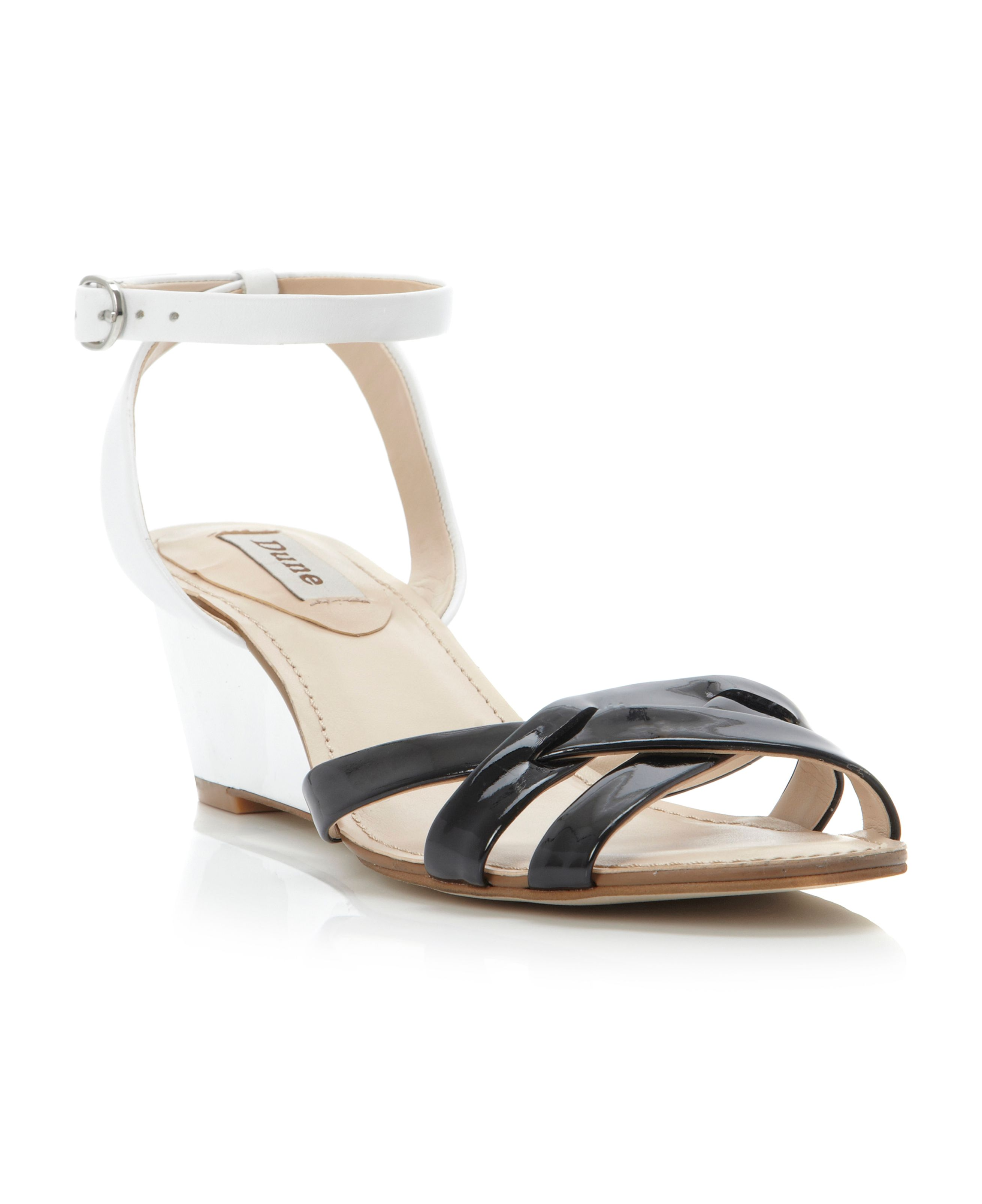 Guilty metal wedge cross vamp sandals