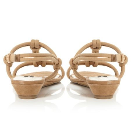 Episode Jazzie low wedge knotted t-bar sandals